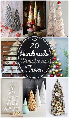 20 Handmade Christmas Trees - Cute and easy Christmas decor! (Click Photo) - - Bookmark Your Local 14 day Weather FREE > www. No Ads or Apps or Hidden Costs Handmade Christmas Tree, Decoration Christmas, Noel Christmas, Merry Little Christmas, Homemade Christmas, Simple Christmas, Winter Christmas, Burlap Christmas, Christmas Images