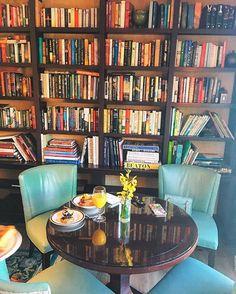 Breakfast book nook  @RitzCarlton