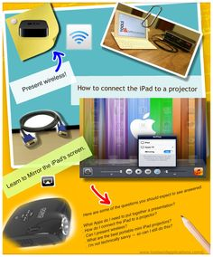 Education and tech: How to connect the iPad to a projector. Visit: http://www.toolsandapplications.com/connect-the-ipad-to-a-projector/