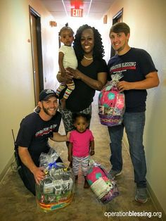Volunteers and workers from Operation Blessing had a great time distributing Easter baskets and bringing joy to young flood victims in Louisiana last year. #volunteer