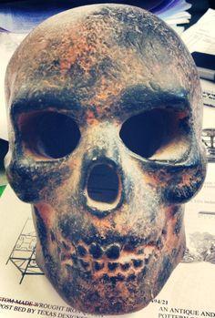 Clay skull Memento Mori