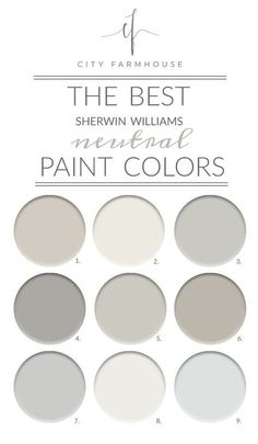 Although I do love color and I tend to gravitate towards neutrals so I thought I would share the best 9 I found from Sherwin-Williams.
