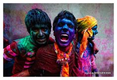 Indian colour festival. Photo by Poras Chaudhary