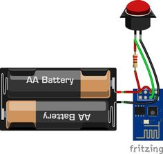 Use as a simple and minimal Arduino with integrated WiFi. And of course, you can connect store data and interact with with thethings. Hobby Electronics Store, Diy Electronics, Electronics Projects, Esp8266 Arduino, Arduino Wifi, Arduino Programming, Esp8266 Projects, Iot Projects, Hobby Lobby Furniture
