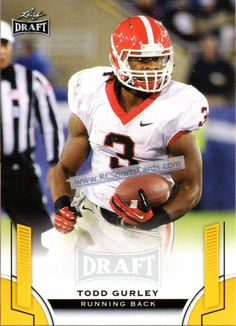 2015 Todd Gurley, UGA, 1 Leaf Draft Gold #55, Itm#CF1465 GOLD PARALLEL http://www.rcsportscards.com/georgia-football-cards.html