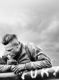 what a damn great photo.   Fury - Brad Pitt