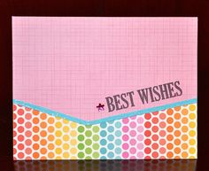 Best Wishes card by Darla Weber #WRMK #DoodleBugDesigns