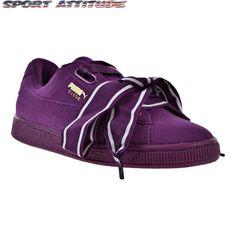 97a5823ec35 Puma Suede Heart Satin II Women s Shoes Dark Purple Dark Purple.  puma