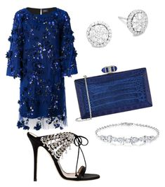 """""""The Princess"""" by muguet07 on Polyvore featuring Notte by Marchesa, Judith Leiber, Giuseppe Zanotti and Saks Fifth Avenue"""