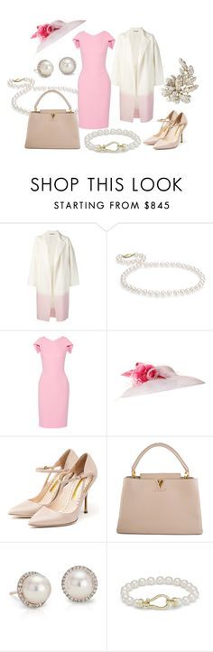 """State Visit from PRC Day 1: Arrival"" by queenalex on Polyvore featuring Dušan, Blue Nile, Antonio Berardi, JANE TAYLOR MILLINERY, Rupert Sanderson, Louis Vuitton and country"