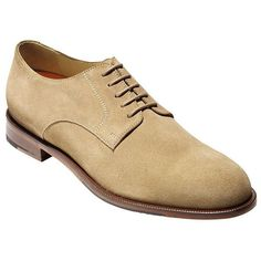 Cole Haan Carter Grand Suede Plain Toe Oxfords ($108) ❤ liked on Polyvore featuring men's fashion, men's shoes, men's oxfords, beige, mens suede shoes, mens oxford shoes, cole haan mens shoes and mens suede oxford shoes