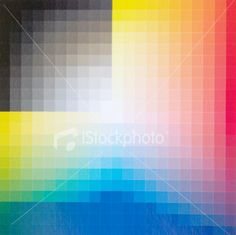 Colour Chart (detail) Royalty Free Stock Photo