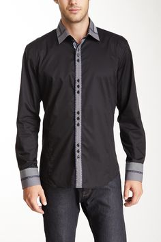 Slim Fit Button Front Solid Shirt