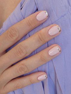 alternative French manicure by @Andreana Nikolova