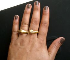 Wrapped Snake Double RIng Uncovet