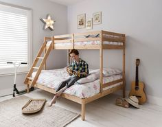 Noa and Nani Kent Triple Bed Bunk Bed in Natural