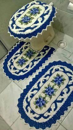 Crochet Home, Crochet Yarn, Free Crochet, Crochet Diagram, Crochet Patterns, Bathroom Mat Sets, Donia, Baby Blanket Crochet, Crochet Doilies
