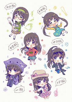 Osomatsu-san genderbend Characters:Osomatsu/Karamatsu/Choromatsu/Ichimatsu/Juushimatsu/Todomatsu