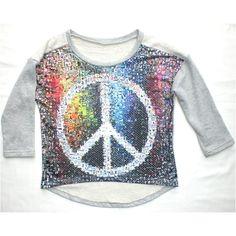 Maglia collage simbolo della pace