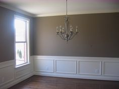 (painting, Wainscot, cabinet, light) - Home Interior Design and Decorating - Page 2 Dining Room Colors, Dining Room Table, Dining Rooms, Empty Room, Wainscoting, House Rooms, Home Renovation, Great Rooms, Home Interior Design