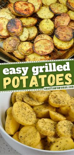 10 reviews · 35 minutes · Vegan Gluten free · Serves 4 · The best side dish for all of your summer barbecue and grill recipes! These crispy Grilled Potatoes are made with simple spices most of which you may already have on hand. Enjoy the summer grilling… Side Dishes For Bbq, Potato Side Dishes, Best Side Dishes, Veggie Side Dishes, Main Dishes, Veg Recipes, Side Dish Recipes, Grilling Recipes, Potato Recipes