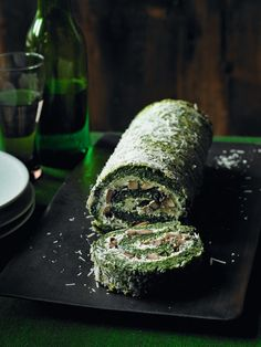 Spinach and mushroom roulade makes an impressive vegetarian main course or starter, packed with iron-rich spinach and flavour