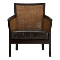 rattan and leather.  gorgeous.