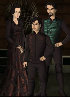 Charlus Black and his wife Palma Nott, with their child: Canis Black. He was sorted into Slytherin House at Hogwarts.