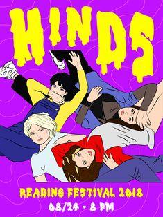 Flyer Hinds. Ilustración por Sol Cano © www.heysolblog.com || Instagram: @solcano