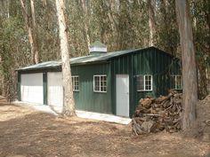Small Metal 2 Car Garage   Steel Garage Buildings   Buildings and ...