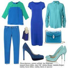 Modrá farba na šatách bude určite príjemným vizuálnym spestrením vášho šatníka. A to aj v prípade doplnkov, topánok či kabeliek.