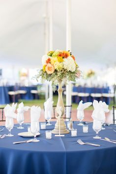 Bright & Colorful Floral Centerpiece | Anna Grace Photography