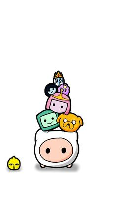 Cartoon Wallpaper Iphone, Disney Phone Wallpaper, Cute Cartoon Wallpapers, Cute Wallpaper Backgrounds, Animes Wallpapers, Kawaii Drawings, Disney Drawings, Cute Drawings, Adventure Time Wallpaper