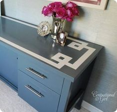 How to paint laminate furniture tutorial.
