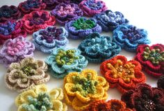 Beaded crochet flowers - Ruthiejoy