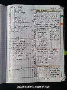 composition notebook grid planner DIY
