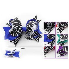 Zebra Bowknot Hair Clip