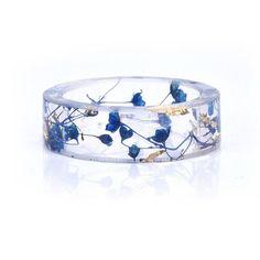 Handmade Dried Flower Resin Ring