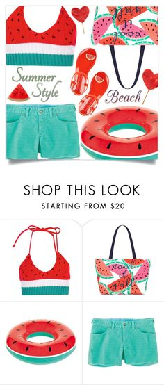 """""""Beach fun summer style"""" by shoaleh-nia ❤ liked on Polyvore featuring Boohoo, Draper James and Title Nine"""