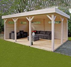 Freistehende Gartenlaube Kim VSV02 von Lugarde mit Flachdach. Top Qualität zu fairen Preisen. Jetzt Auswahl entdecken und online bestellen!