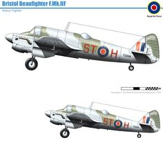 Bristol Beaufighter, Ww2 Aircraft, Military Aircraft, Aviation Art, Great Britain, Planer, Wwii, Fighter Jets, Modeling