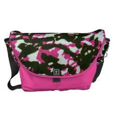 Washed Out Zebra Pattern Messenger Bag #PinkAndBlackObsession