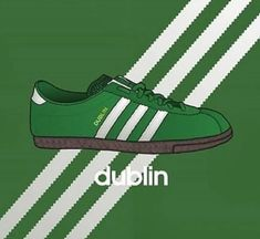 Will it happen for St Patrick's day. Adidas Og, Adidas Retro, Vintage Adidas, Adidas Sneakers, St Patricks Day Clothing, Tennis Funny, Football Casuals, Sneaker Art, Sports Brands