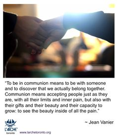 To be in communion means to be with someone and to discover that we actually belong together Be With Someone, Let's Create, Beauty Inside, Inspiration Quotes, Communion, Meant To Be, Let It Be, Inspiring Quotes, Inspire Quotes