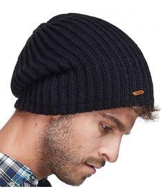 596868d3a36 Winter Beanie Skull Cap Warm Knit Fleece Ski Slouchy Hat For Men   Women  Plain Black C8186HIH0TN