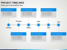 Present a timeline for a project, illustrate the important achievements of your company or simply highlight some other milestones for a particular period of time through our timelines PowerPoint slides.