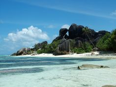 Anse Source D'Argent located on La Digue , one of the smaller islands of Seychelles.