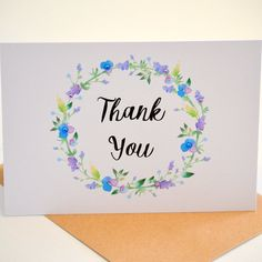 Thank You Card Thank You Cards Say Thanks  by ThePaperAngelOnline