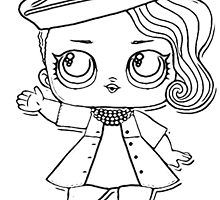 Color Yourself Lol Surprise Doll Posh By Solomom Lol Dolls Lol Coloring Pages