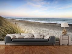 Sunset at the Beach wall mural room setting